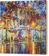 Colors Of Emotions - Palette Knife Oil Painting On Canvas By Leonid Afremov Wood Print