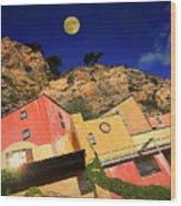 Colors Of Liguria Houses - Facciate Case Colori Di Liguria 3 Wood Print