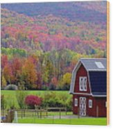 Colors Of New England Wood Print