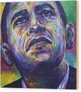 Colors Of Obama Wood Print