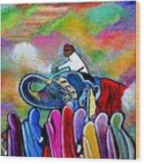 Colors Of Rajasthan Wood Print