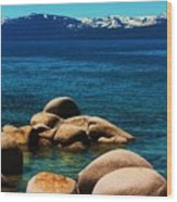 Colors Of Sand Harbor Wood Print