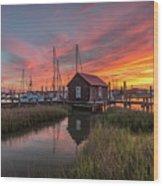 Colors Of Shem Creek - Mt. Pleasant Sc Wood Print