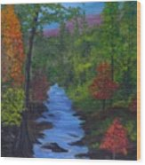 Colors Of The Blue Ridge Wood Print