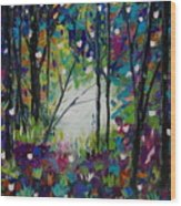 Colors Of The Forest Wood Print