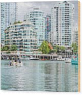 Colors Of Vancouver Wood Print