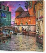 Colors Of Venice Wood Print by Joel Payne