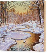 Colors Of Winter Wood Print