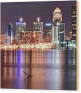 Colors On The Louisville Riverfront Wood Print