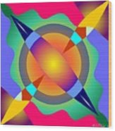 Colorscape 1-5 Wood Print