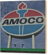 Colossal Amoco Wood Print