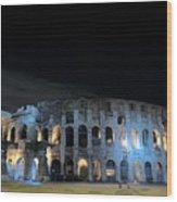 Colosseum By Night II Wood Print