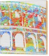 Colosseum - Colorsplash Wood Print