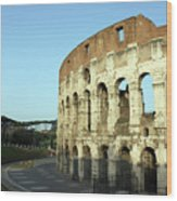 Colosseum Early Morning Wood Print