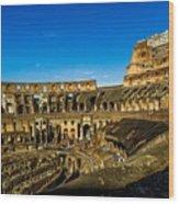 Colosseum In Rome Interior Wood Print