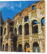 Colosseum In Rome Italy Wood Print