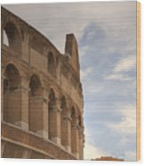 Colosseum In The Historic Centre Of Rome Wood Print