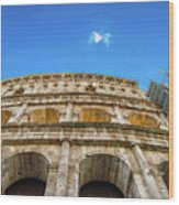 Colosseum Perspective Wood Print