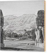 Colossi Of Memnon 2 Wood Print