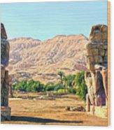 Colossi Of Memnon Wood Print