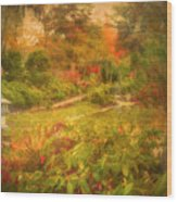 Colour Explosion In The Japanese Gardens Wood Print