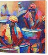 Colour Pan Wood Print