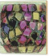 Coloured Glass Bowl Wood Print