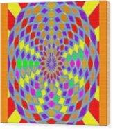 Coloured Ovals Wood Print