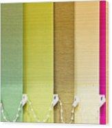 Colourful Blind Wood Print