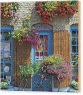 Colourful Boutique,france. Wood Print