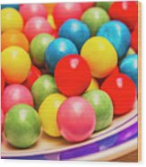 Colourful Bubblegum Candy Balls Wood Print