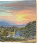 Colourful Clouds At Sunset Yarra Glen 09-05-2015 Wood Print