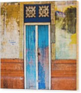 Colourful Door Wood Print
