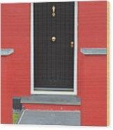 Colourful House Wood Print