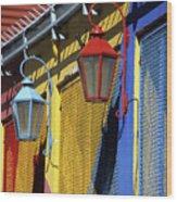 Colourful Lamps La Boca Buenos Aires Wood Print