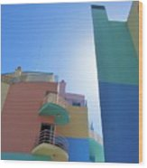 Colourful Marina Buildings Albufiera Portugal Wood Print