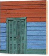 Colourful Shutters La Boca Buenos Aires Wood Print