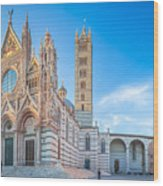 Colourful Siena Cathedral Wood Print