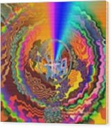 Colourful Swirl Of Goodluck Wood Print