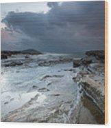 Colours Of A Storm - Seascape Wood Print