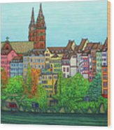 Basel, Colours of Basel Wood Print