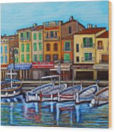 Colours Of Cassis Wood Print