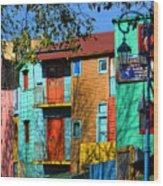 Colours Of La Boca Wood Print