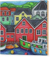 Colours of Lunenburg Wood Print