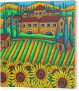 Colours Of Tuscany Wood Print