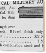 Colt .45 Automatic Pistol Wood Print