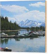 Colter Bay On Jackson Lake  Wood Print