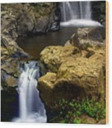Columba River Gorge Falls 2 Wood Print