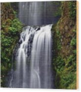 Columba River Gorge Falls 3 Wood Print