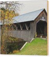Columbia Covered Bridge Wood Print